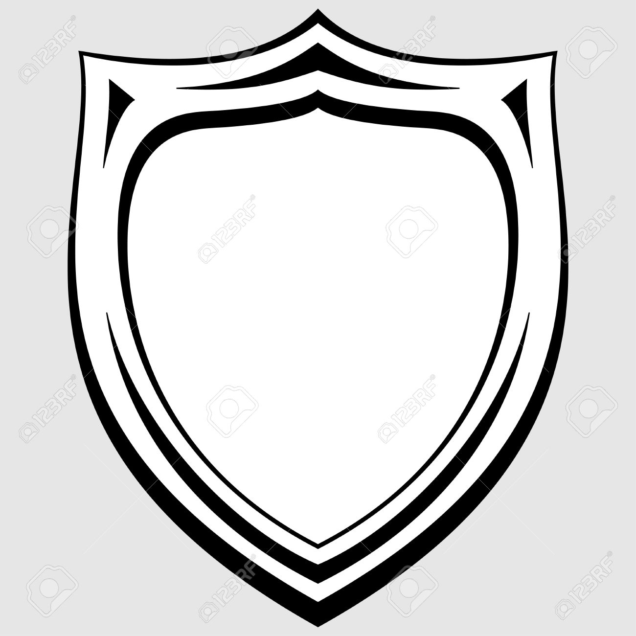 Police badge outline clipart png free Police Badge Outline white shield outline clipart white outline ... png free