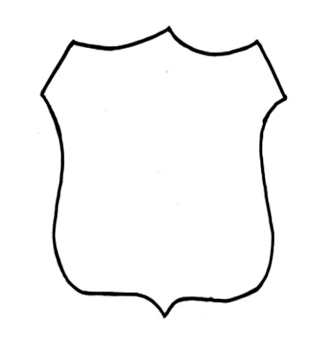 Police badge outline clipart graphic library Police Badge Outline Clipart - Clipart Kid graphic library