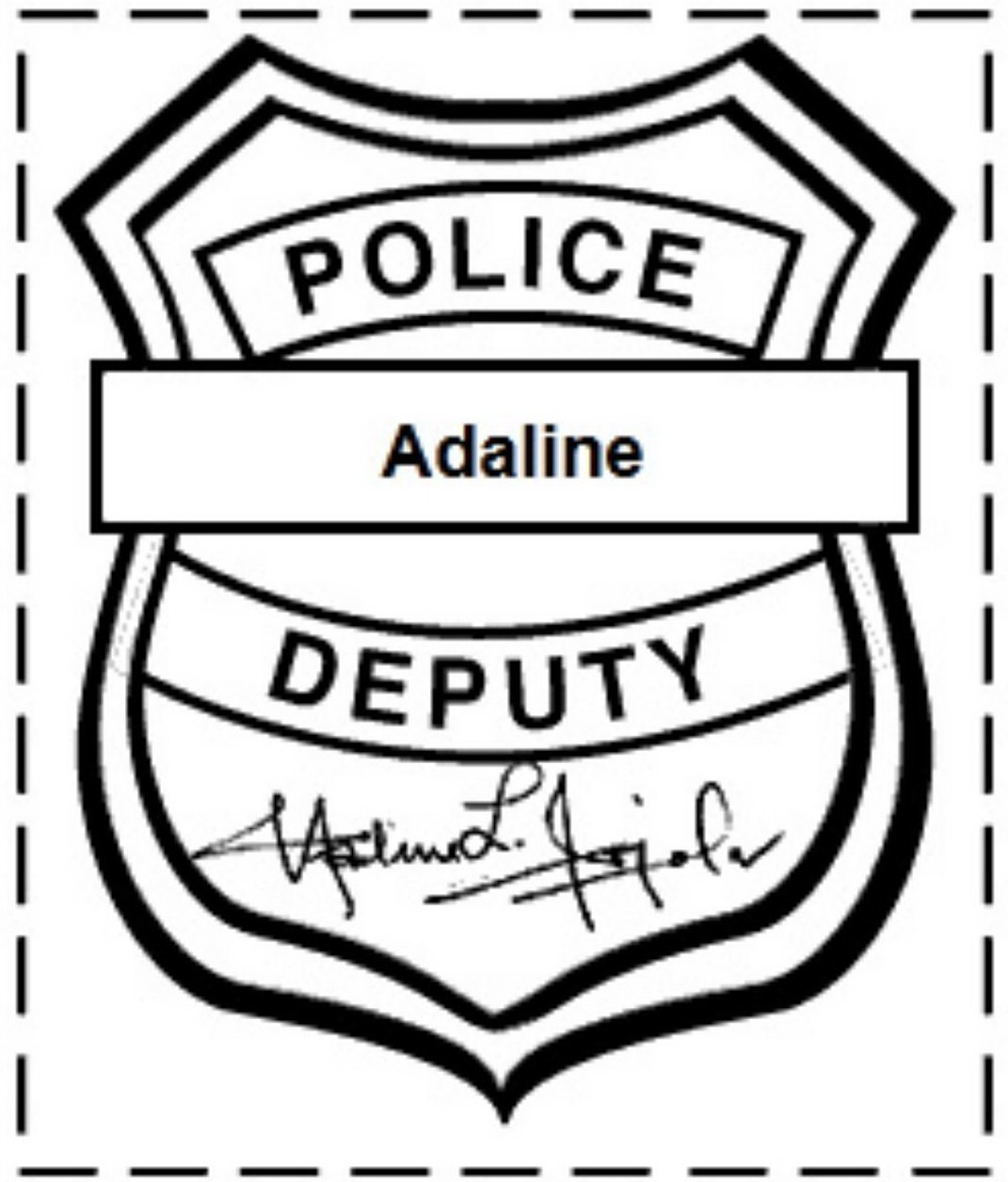 Police badge outline clipart banner black and white library Police badge outline clipart kid 2 - Clipartix banner black and white library