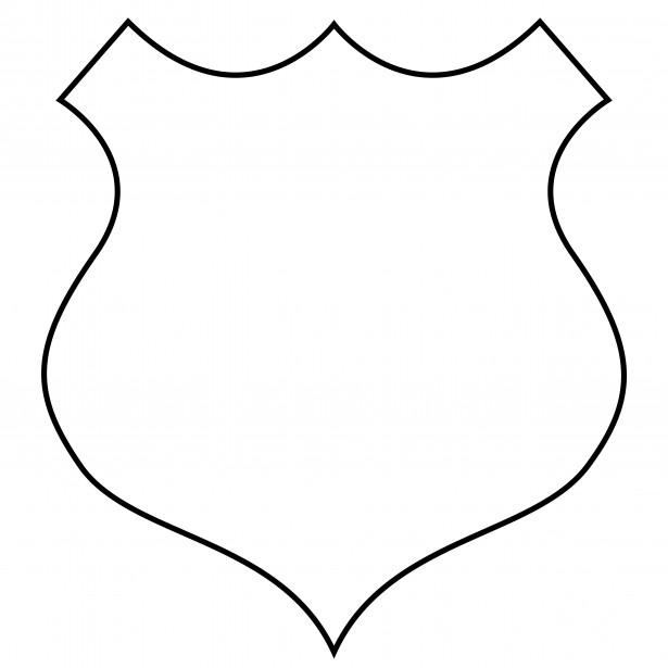 Police badge outline clipart jpg stock Police Badge Outline Clipart - Clipart Kid jpg stock