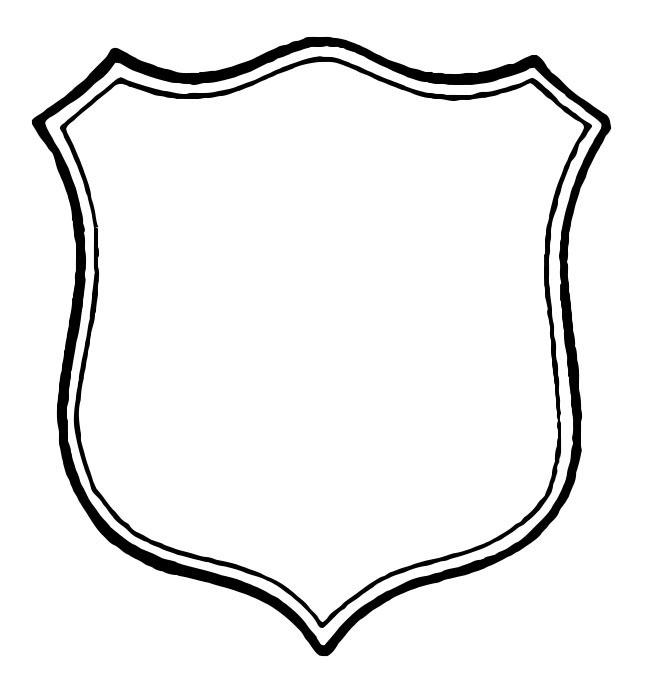 Police badge outline clipart image freeuse download Badge outline clip art - ClipartFest image freeuse download