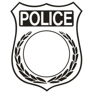 Police badge outline clipart banner black and white library Police badge clipart black and white - ClipartFest banner black and white library