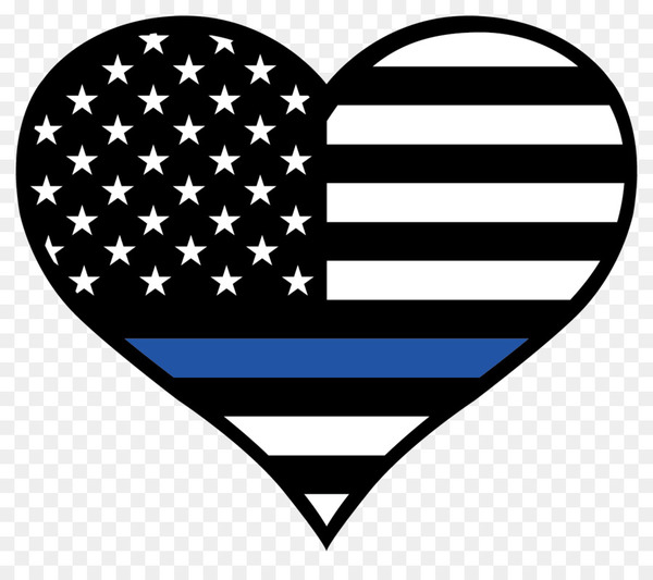 Police badge thin blue line with heart free clipart graphic freeuse download Thin Blue Line Law Enforcement Sticker Police officer United ... graphic freeuse download