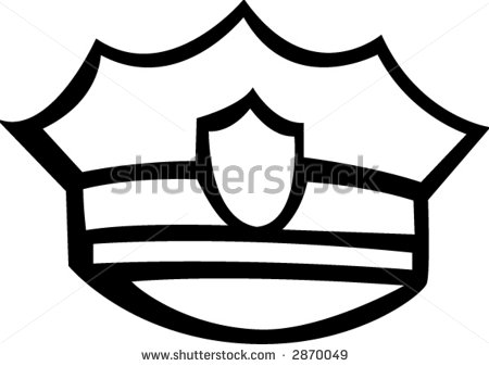 Police cap clipart banner black and white stock Police Hat Clipart - Clipart Kid banner black and white stock