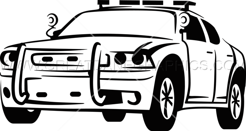 Police car clipart black and white clip black and white library Police Car | Production Ready Artwork for T-Shirt Printing clip black and white library