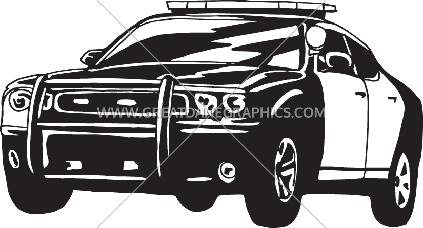 Police car clipart black and white clip royalty free library Police Car | Production Ready Artwork for T-Shirt Printing clip royalty free library