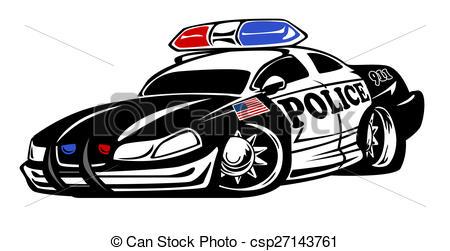 Police car cartoon clipart