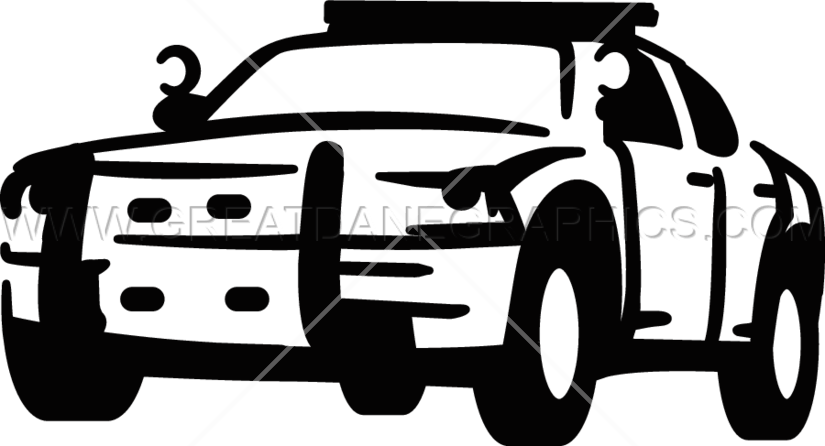 Police car clipart black and white picture freeuse download Police Car | Production Ready Artwork for T-Shirt Printing picture freeuse download
