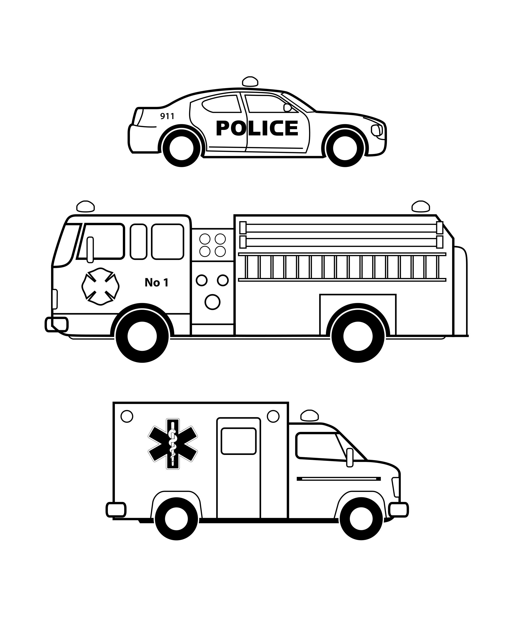 Police car clipart black and white picture free library Clipart - Emergency vehicles black and white picture free library