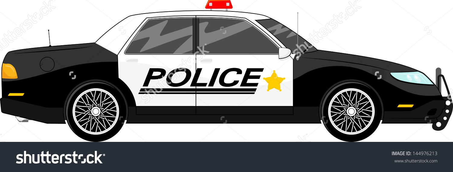 Police car clipart clear background graphic transparent stock Illustration Police Car Side View Isolated Stock Vector 144976213 ... graphic transparent stock