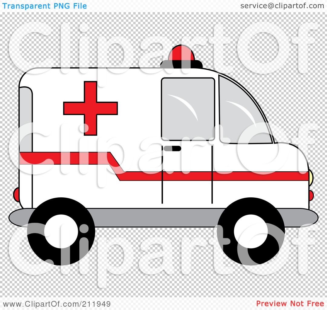 Police car clipart clear background clipart black and white stock Royalty-Free (RF) Clipart Illustration of a Red And White ... clipart black and white stock