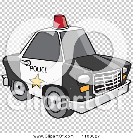 Police car clipart clear background graphic download Clipart Cartoon Police Car With A Siren Cone On The Roof - Royalty ... graphic download