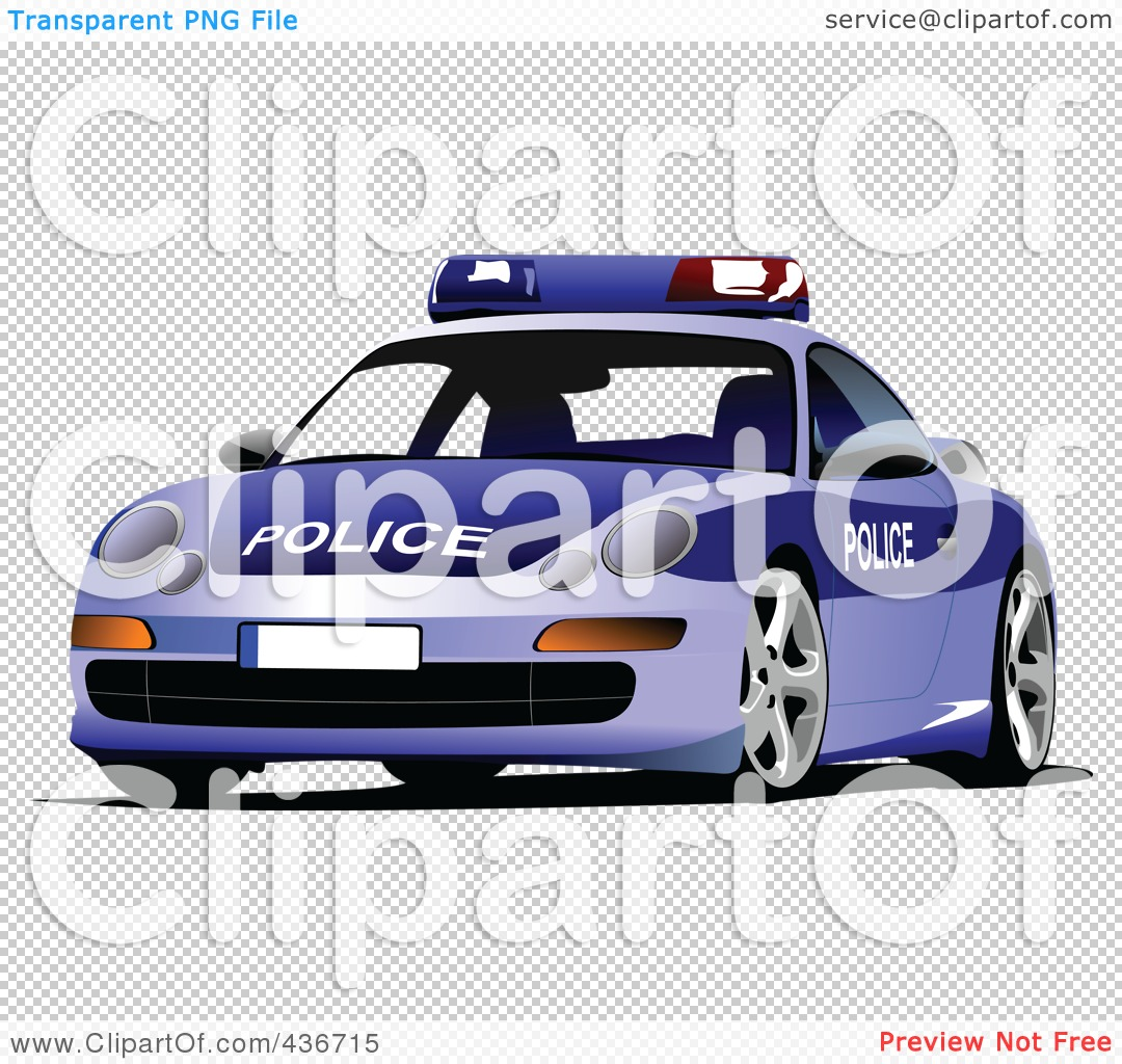 Police car clipart clear background png free Royalty-Free (RF) Clipart Illustration of a Police Car by leonid ... png free