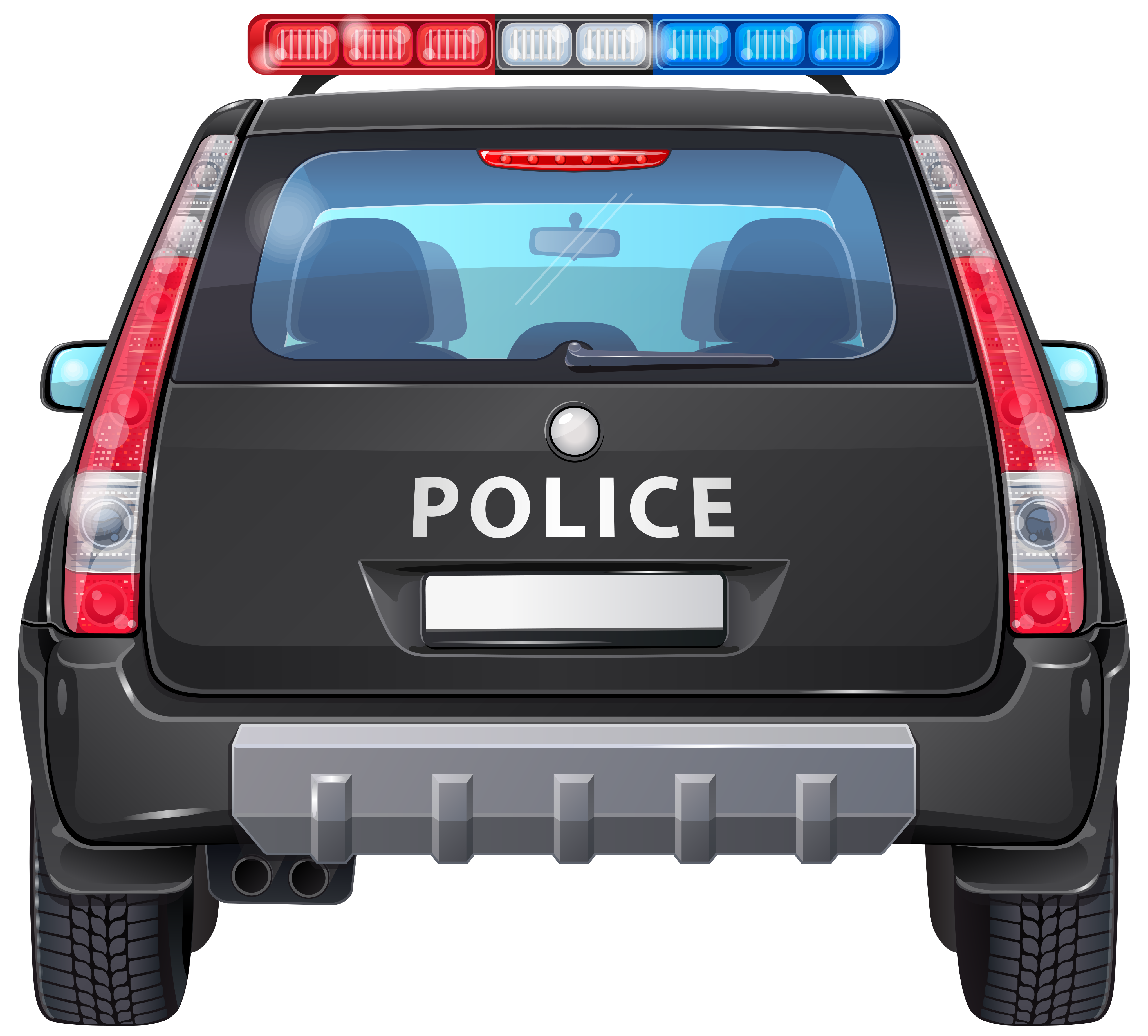 Clipart of police car png black and white download Police Car Back PNG Clip Art Image png black and white download