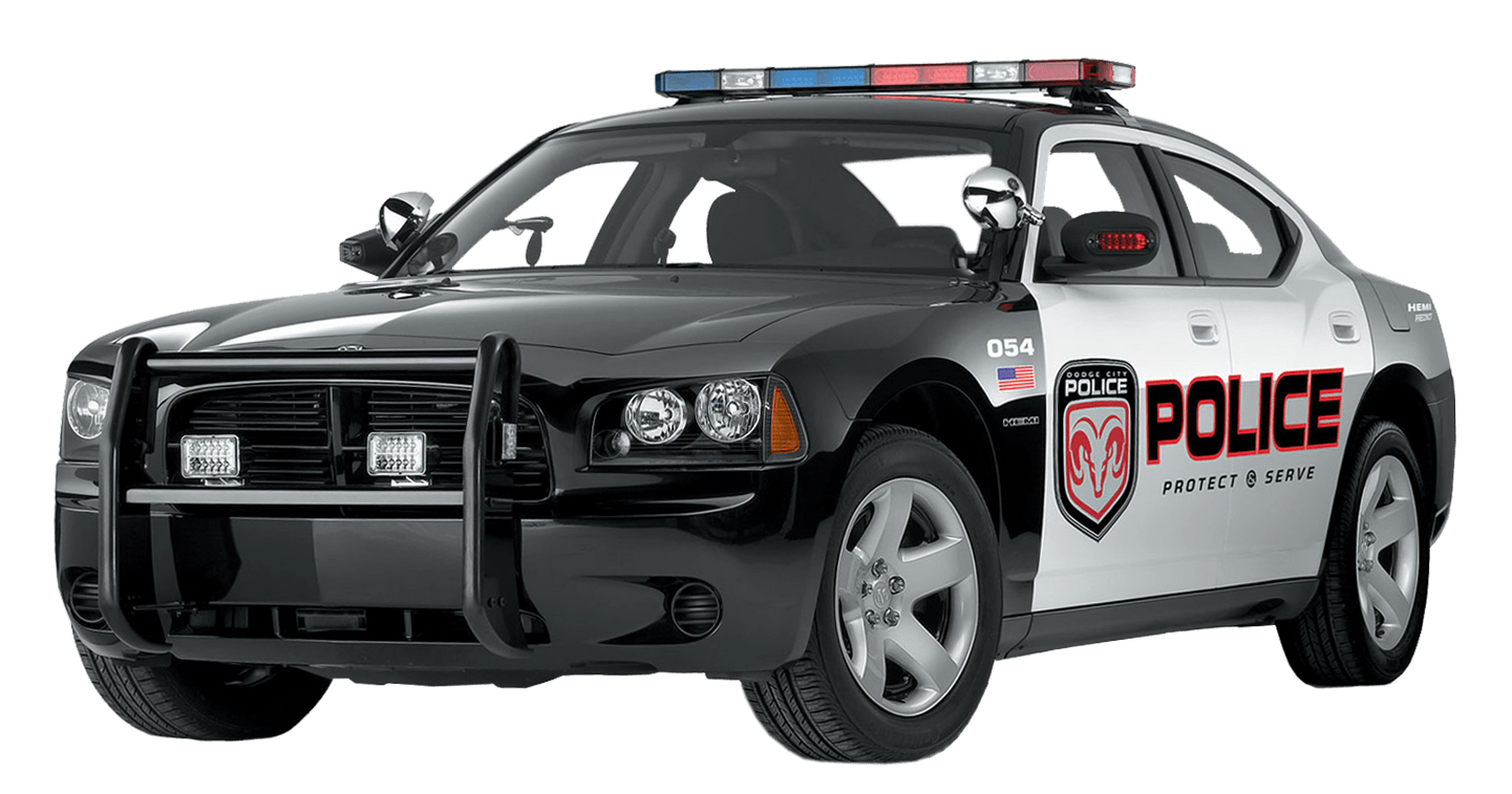 Police car front clipart clipart black and white download Us Police Car transparent PNG - StickPNG clipart black and white download