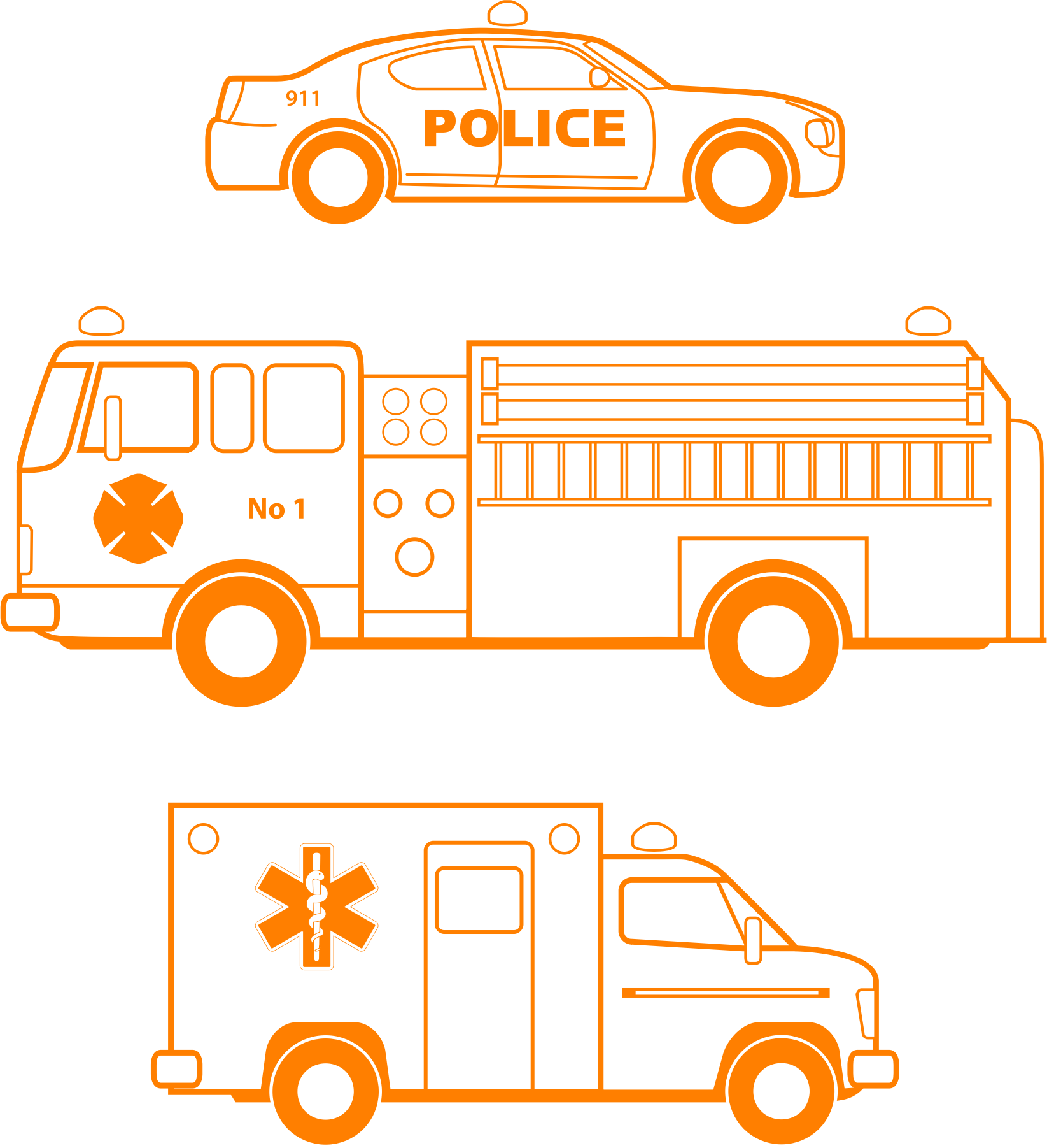 Police car fire truck and ambulance clipart clipart transparent library Firetruck clipart ambulance car, Firetruck ambulance car ... clipart transparent library