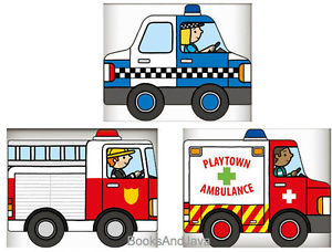 Police car fire truck and ambulance clipart clipart free library Details about Playtown Emergency Set Fire Truck,Police Car,Ambulance(Board  Book) FREE ship $35 clipart free library