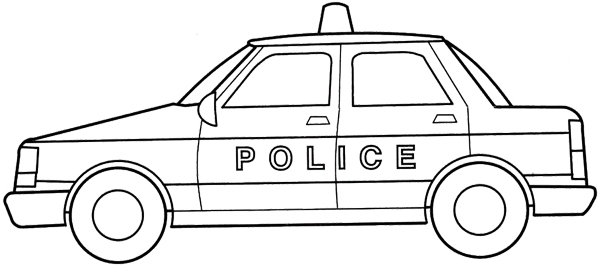 Police car free clipart