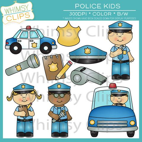 Police car kids clipart jpg Fun police kids clip art with police officers, a police car, and ... jpg