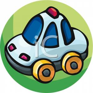 Police car kids clipart graphic freeuse stock Police Car Toy - Royalty Free Clipart Picture graphic freeuse stock