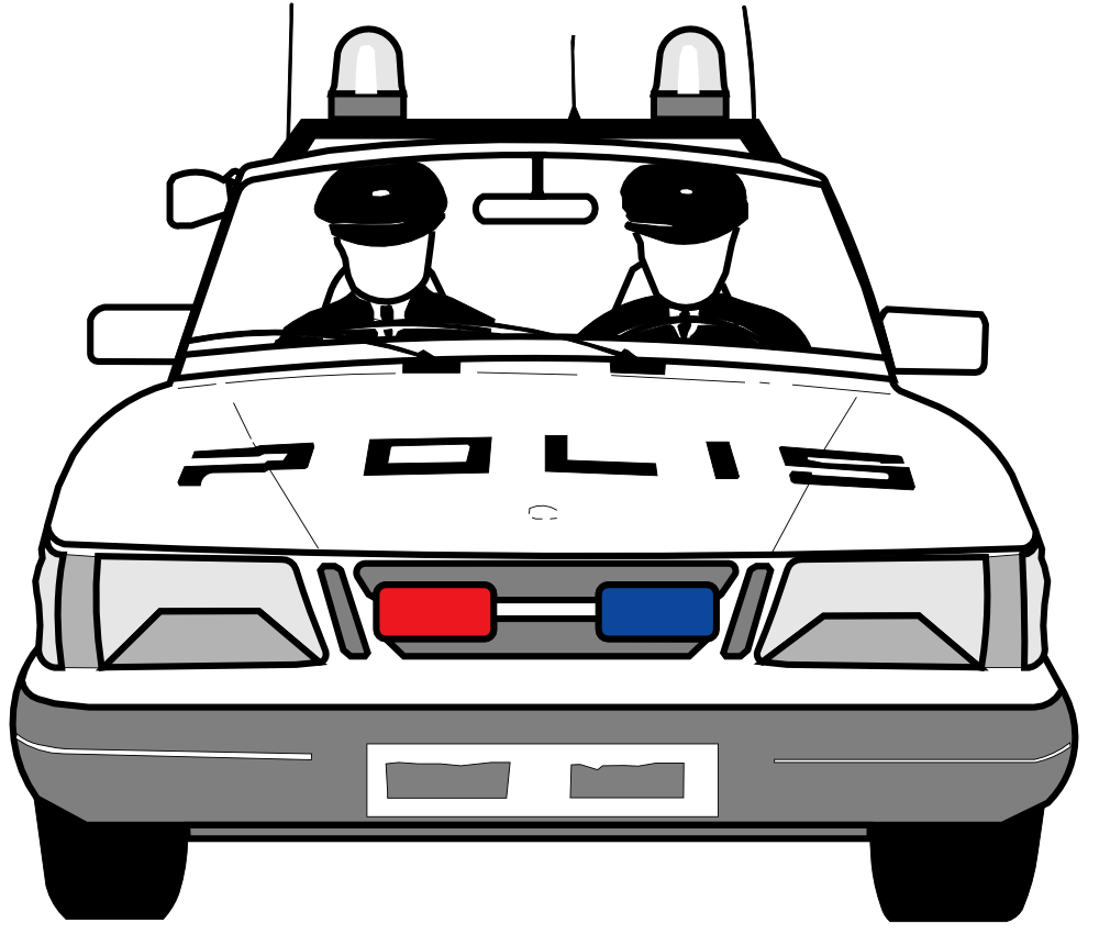 Police car front clipart picture free stock Police car car lights clipart - dbclipart.com picture free stock