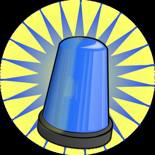 Police car lights clipart svg black and white Blue signal light vector clip art | Public domain vectors svg black and white