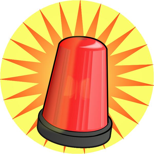 Police car lights clipart picture freeuse download Orange Light Alarm Clip Art at Clker.com - vector clip art online ... picture freeuse download