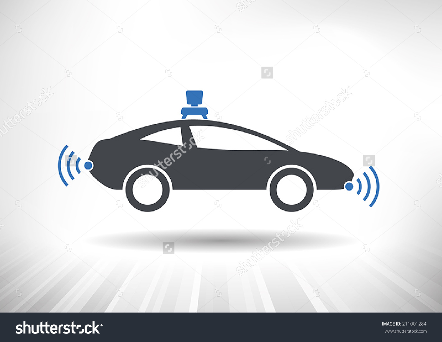 Police car radar clipart banner free Driverless Car Icon Roof Camera Radar Stock Vector 211001284 ... banner free