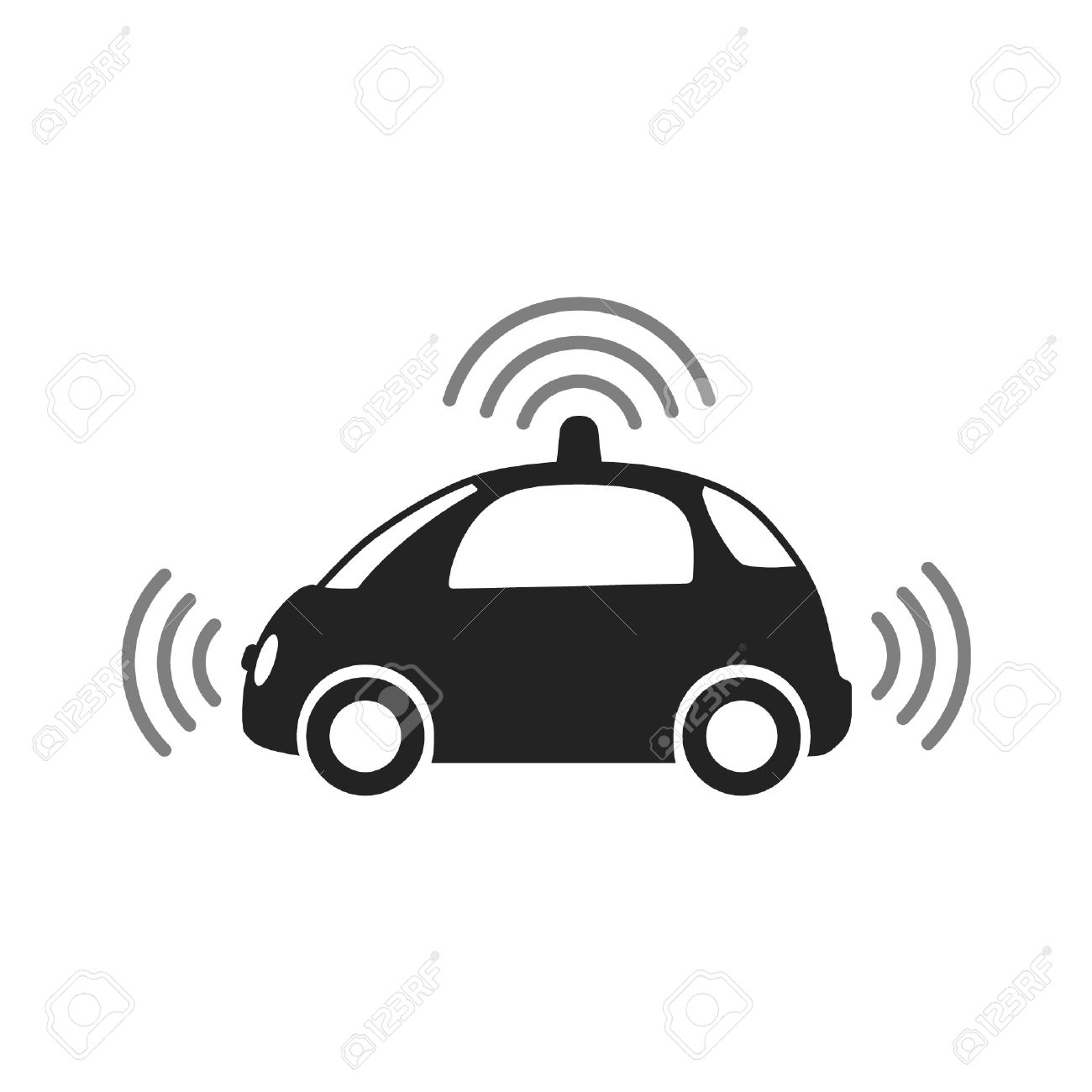 Police car radar clipart picture freeuse library Autonomous Self-driving Driverless Vehicle Side View With Radar ... picture freeuse library