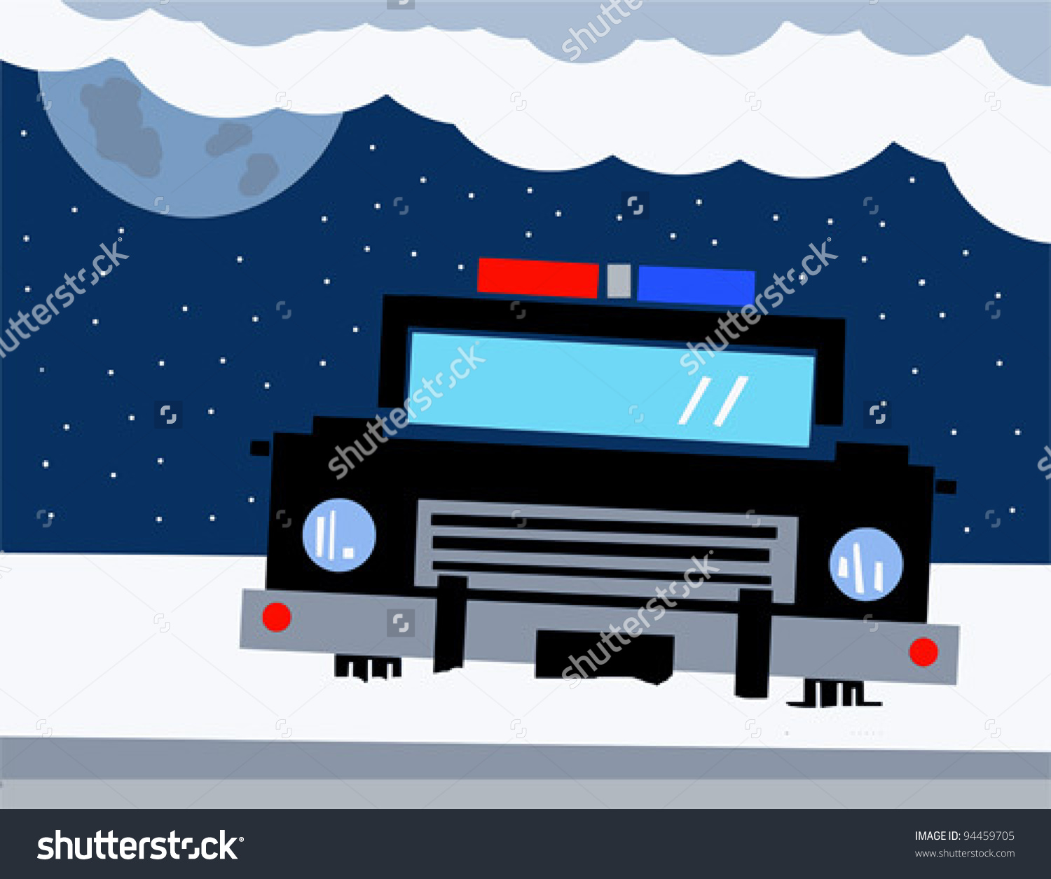 Police car snow clipart banner black and white Police car in snow clipart - ClipartFest banner black and white