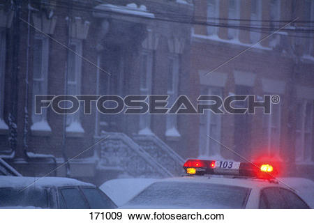 Police car snow clipart png black and white stock Stock Photograph of Light On Top Of Police Car In The Snow 171009 ... png black and white stock