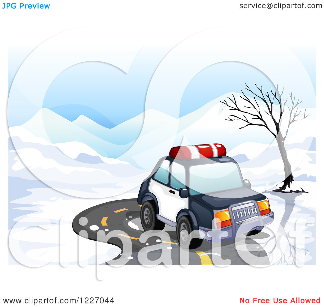 Police car snow clipart vector royalty free stock Clipart of a Police Car on an Icy Winter Road - Royalty Free ... vector royalty free stock