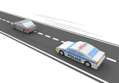 Police chase clipart vector black and white library Car Chase | stolen car - Free illustrations material vector black and white library