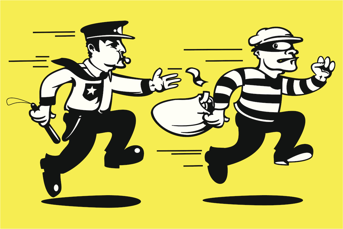 Police chase clipart clip freeuse library Connecticut Police Get a Lift, Catch Criminal in a Foot Chase - CT ... clip freeuse library