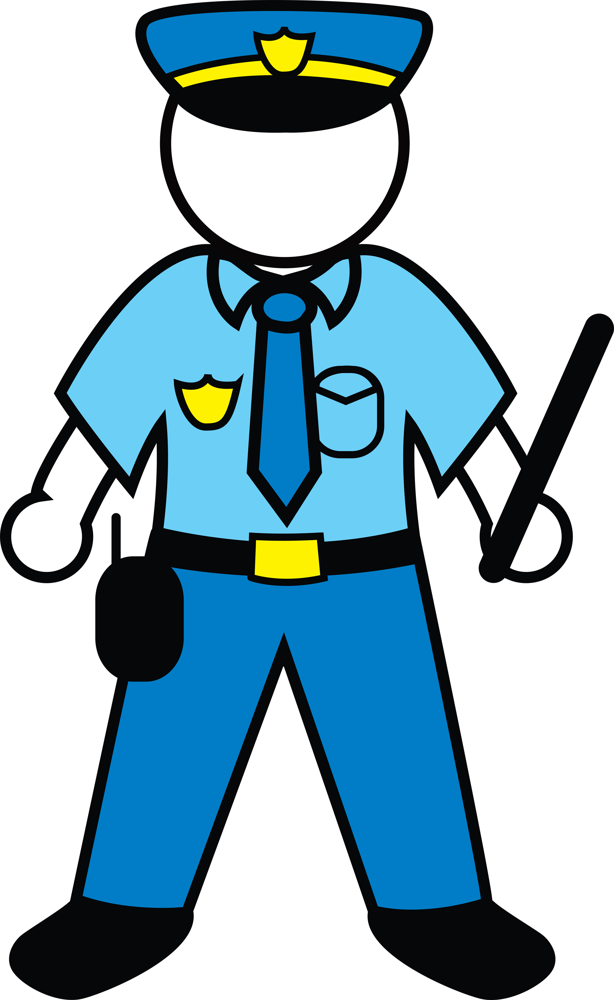 Police clipart animated clipart free stock Cartoon Police Officer Clipart - Clipart Kid clipart free stock
