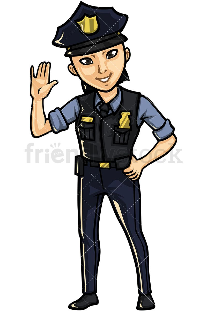 Police clipart free svg transparent Asian Female Police Officer | Vector Illustrations | Vector ... svg transparent