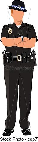Police clipart uk svg download Vector Clip Art of Police woman looking forward isol - Police ... svg download