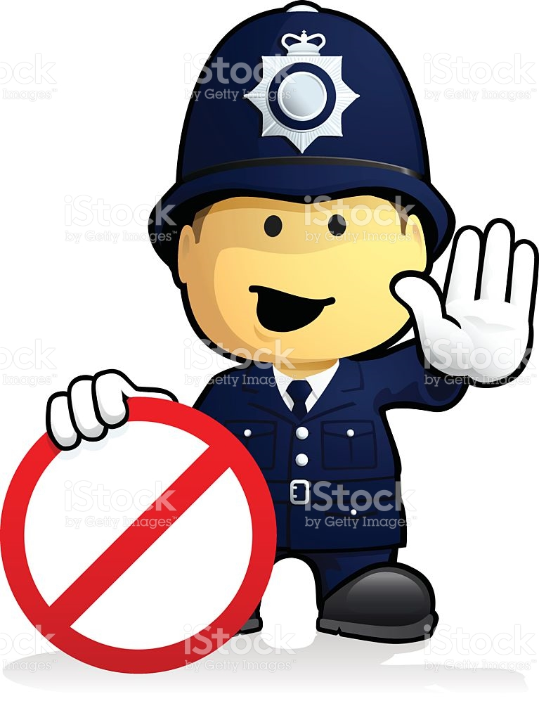 Police clipart uk png transparent stock Uk Policeman Restriction Sign stock vector art 496718673 | iStock png transparent stock