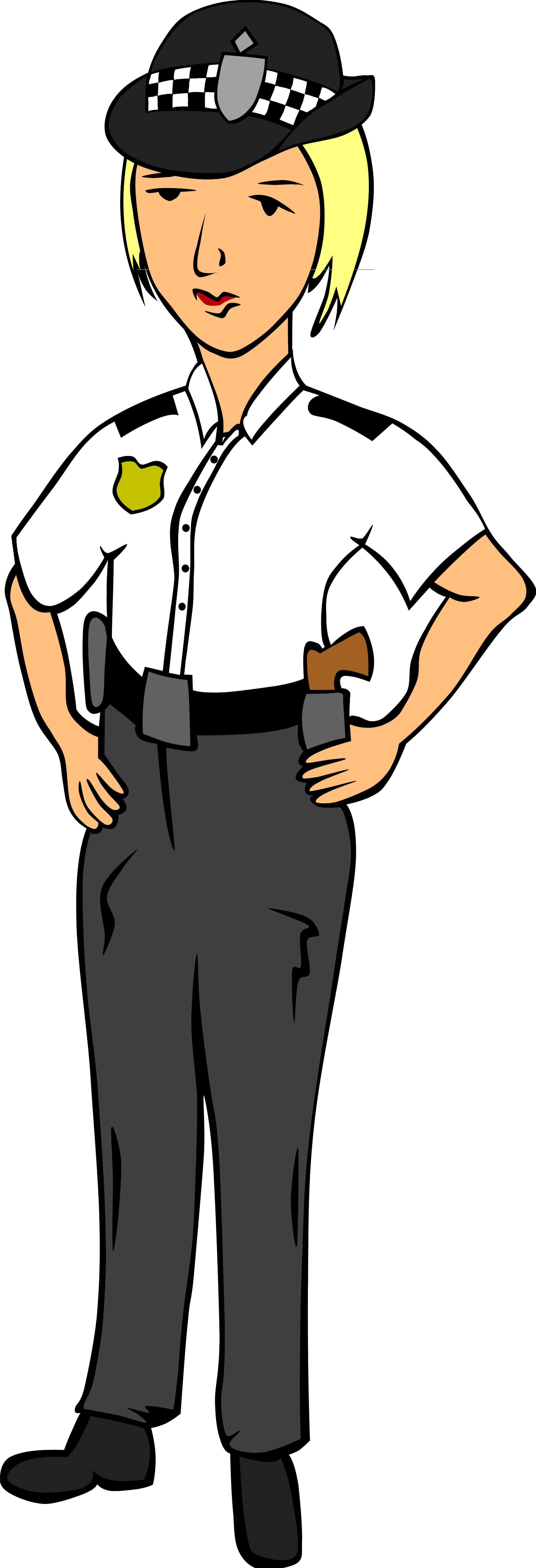 Police clipart uk clipart free File:Tux Paint woman police officer 2.svg - Wikimedia Commons clipart free