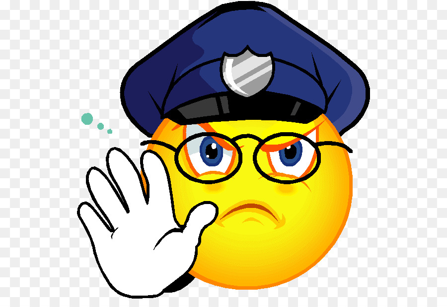 Police emoji clipart picture free download Smiley Face Background png download - 594*605 - Free ... picture free download