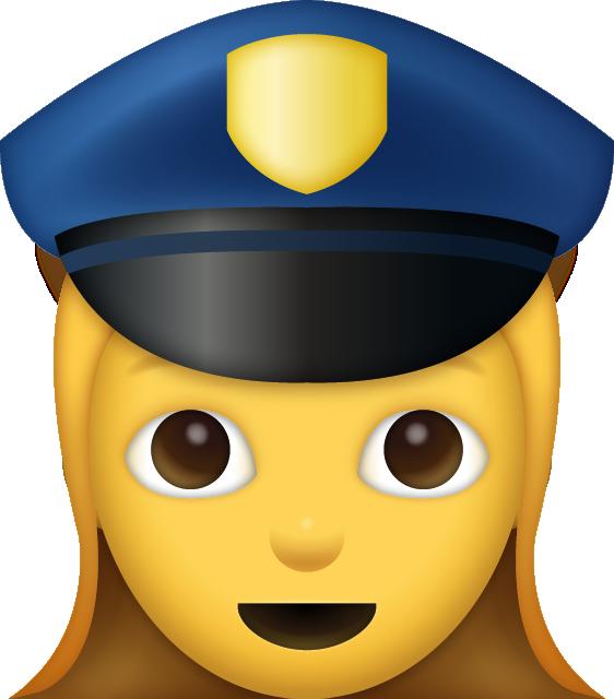 Police emoji clipart jpg black and white stock Girl Police Emoji [free Download Ios Emojis] Clipart - Full ... jpg black and white stock