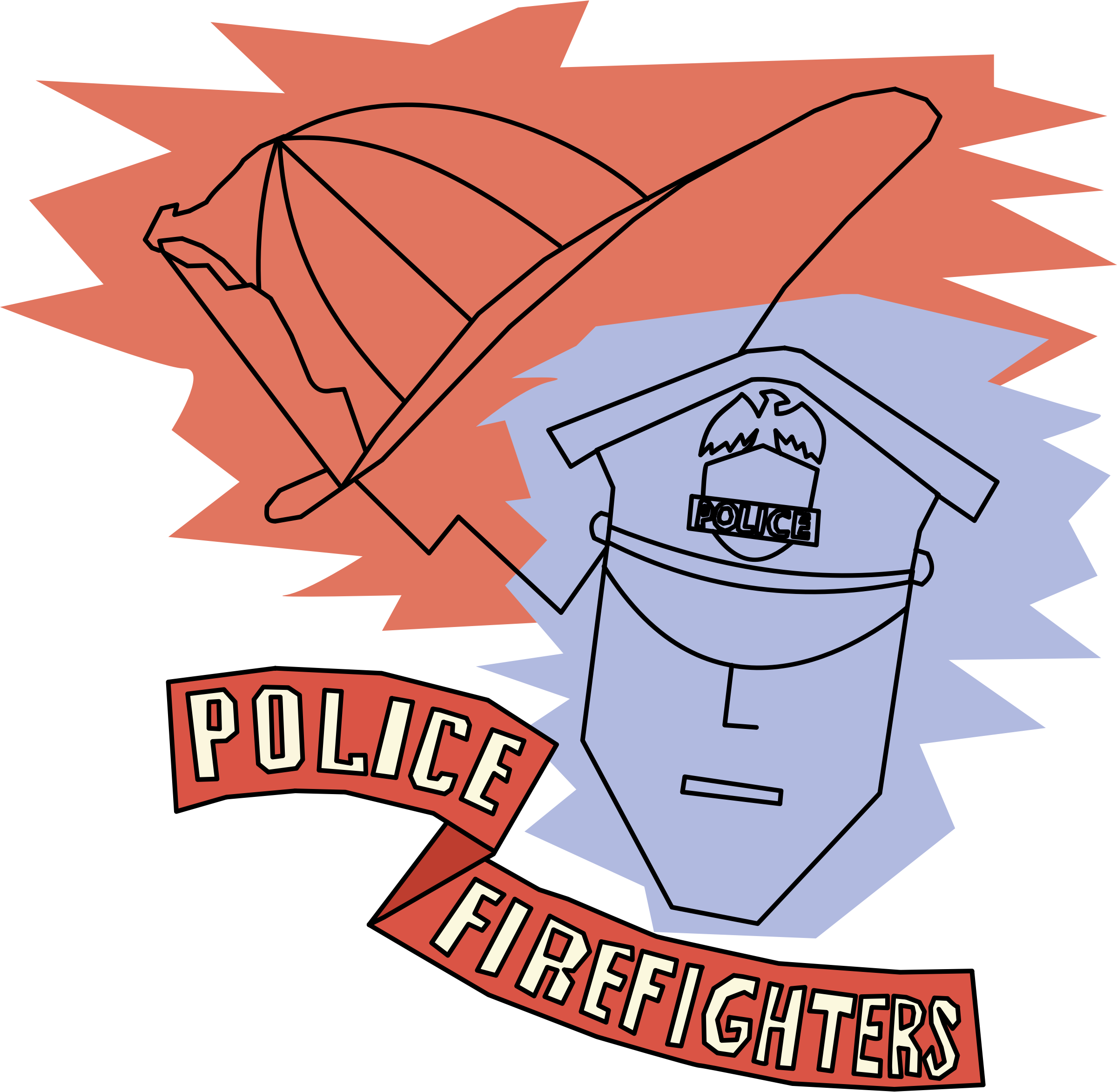 Police firefighter basketball clipart png library download Police and Firefighters Icons PNG - Free PNG and Icons Downloads png library download