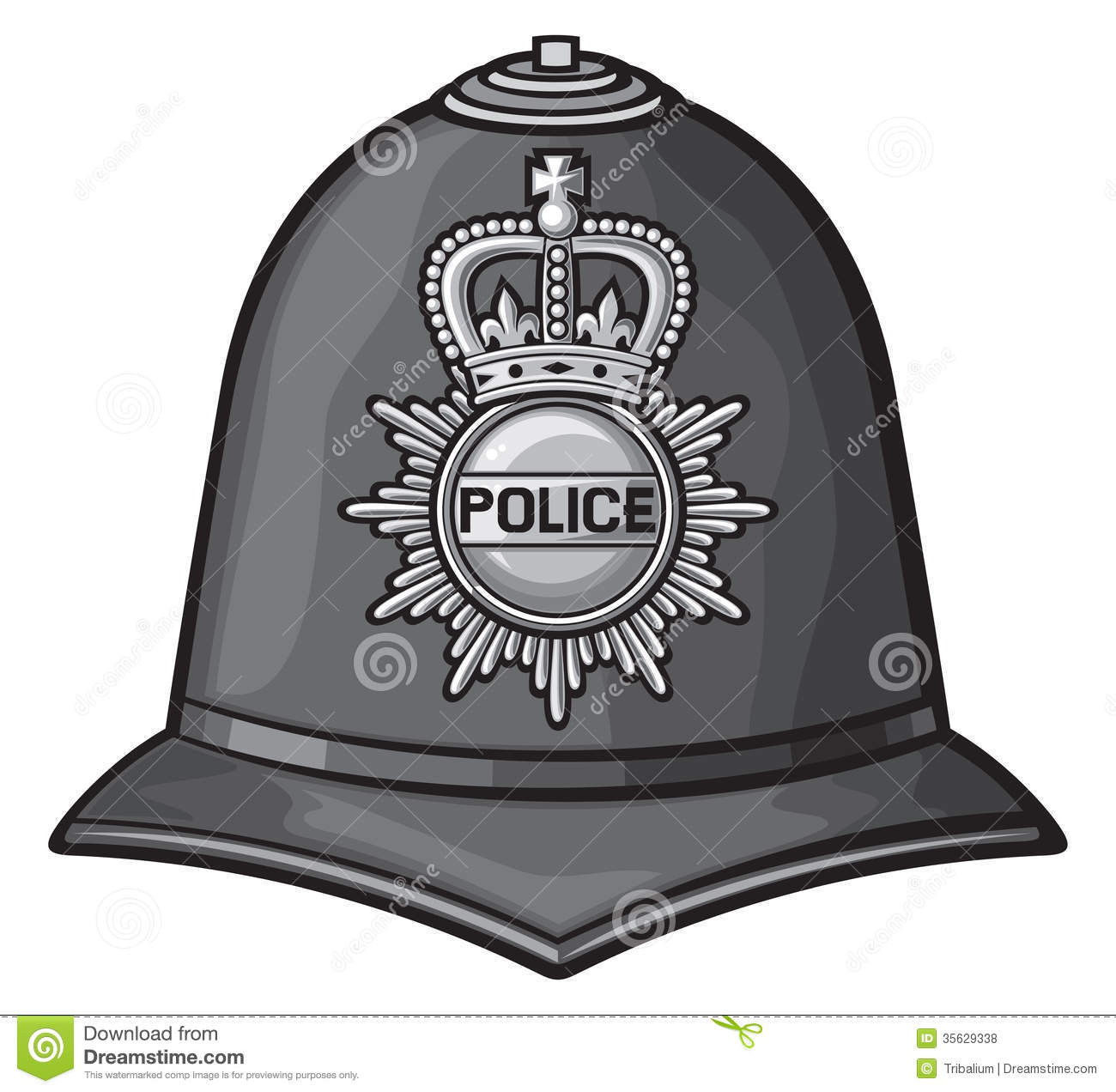Police hat clipart picture library download Police Hat Clip Art British Police Helmet Royalty #L0ROvP ... picture library download
