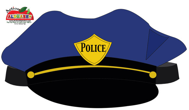 Police hat clipart clip transparent library Police Hat Cute Clipart - Clipart Kid clip transparent library