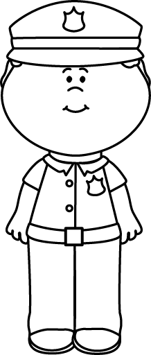 Police office clipart black and white vector black and white Police officer clipart black and white » Clipart Station vector black and white