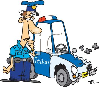 Police officer car clipart image library Royalty Free Clipart Image: A Cartoon Police Officer Worrying Over ... image library