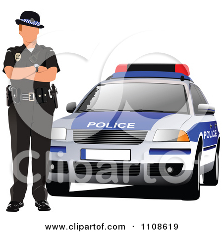Police officer car clipart svg royalty free library Royalty-Free (RF) Clipart Illustration of a Police Car by leonid ... svg royalty free library