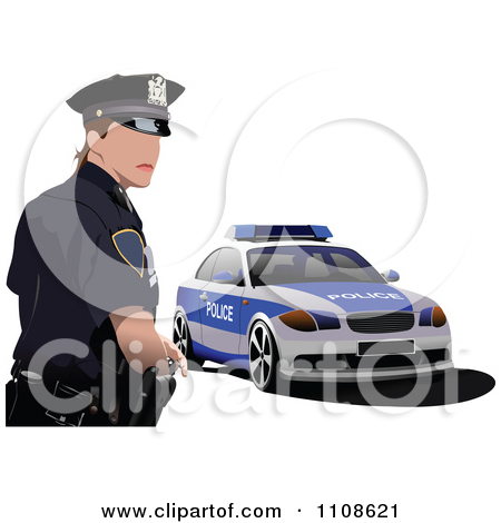 Police officer car clipart clip art free stock Royalty-Free (RF) Clipart Illustration of a Police Car by leonid ... clip art free stock