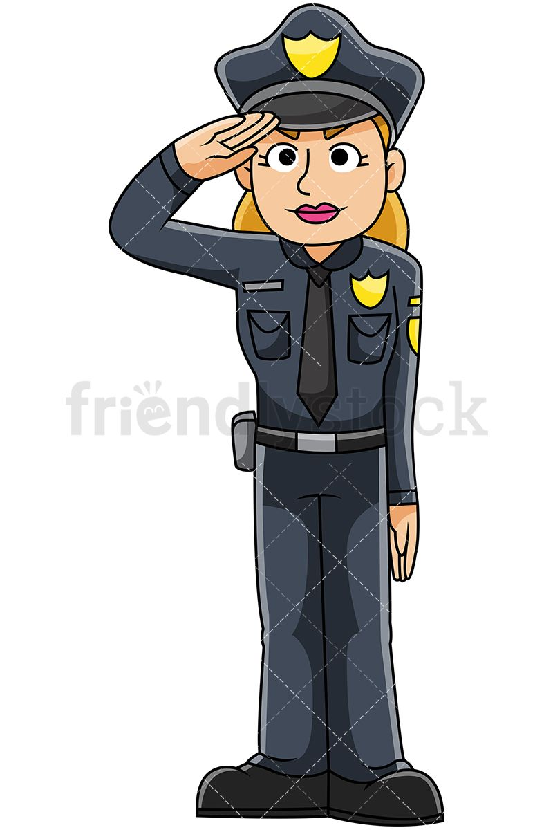 Police officer cartoon clipart png library library Female Police Officer Saluting   Female police   Female ... png library library
