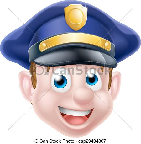 Police officer face clipart
